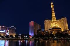 Hotel di Las Vegas Bellagio di notte Fotografie Stock