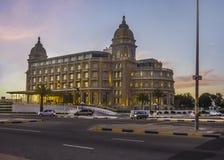 Hotel di lusso del punto di riferimento di Montevideo Immagini Stock