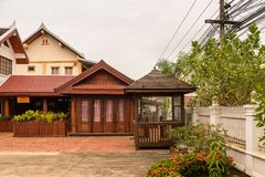 Hotel di Manoluck in Luang Prabang, Laos Immagini Stock Libere da Diritti