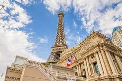Hotel di Parigi e casinò, ristorante della torre Eiffel Immagini Stock Libere da Diritti