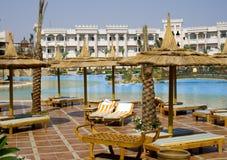 Hotel di ricorso egiziano Immagine Stock