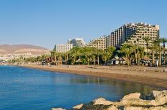 Hotel di ricorso in Eilat, Israele fotografia stock libera da diritti