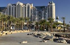 Hotel di ricorso in Eilat, Israele Fotografie Stock Libere da Diritti