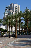 Hotel di ricorso moderni alla città di Eilat Immagini Stock Libere da Diritti