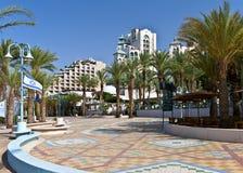 Hotel di ricorso moderni alla città di Eilat Fotografia Stock