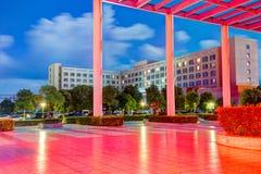 Hotel di Sanmen Cina Haiyi alla notte Immagine Stock