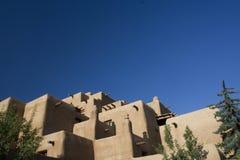 Hotel di Santa Fe Adobe Fotografia Stock Libera da Diritti