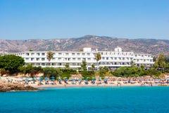 Hotel dichtbij de kust Royalty-vrije Stock Afbeelding