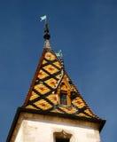 Hotel Dieu de Hospices de Beaune da torre da capela Imagens de Stock