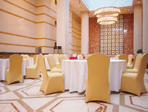 Hotel Dining Hall. This is a luxury hotel dining hall interior Stock Photo