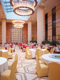 Hotel Dining Hall. This is a luxury hotel dining hall interior Royalty Free Stock Photos
