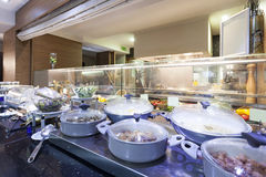 Hotel dinner - buffet style food Stock Images