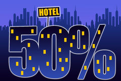 Hotel discount. Getting a discount when booking hotel accommodation while travelling Stock Photography