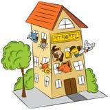 Hotel do animal de estimação ilustração stock