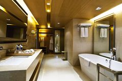 Hotel do banheiro Fotos de Stock