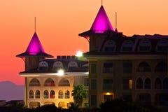 Hotel do castelo no peru Imagens de Stock Royalty Free