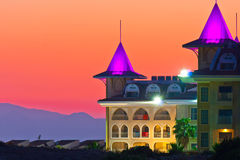 Hotel do castelo no peru Foto de Stock