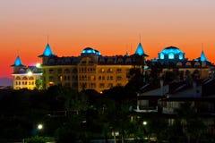 Hotel do castelo no peru Fotografia de Stock