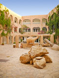 Hotel do deserto em oásis de Sahara Imagem de Stock