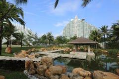 Hotel do feriado da Sete-estrela dos manguezais de Haitangwan na ilha de Hainan 4 imagem de stock royalty free