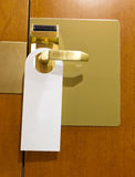 Hotel do not disturb sign Royalty Free Stock Images
