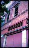 Hotel do palácio de Delapidated Imagens de Stock
