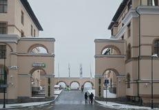 Hotel do panorama de Gorki em Gorod superior - a estância turística 960 da todo-estação mede acima do nível do mar Imagem de Stock