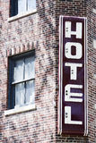 Hotel do vintage Fotos de Stock Royalty Free