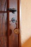 Hotel door key in Argentina royalty free stock photos