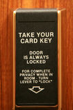 Hotel door security lock Stock Images