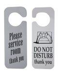 Hotel Door Signs. Stock Photos