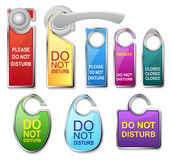 Hotel door signs vector - do not disturb Stock Photography