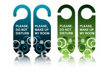 Hotel door tags Stock Image