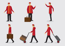 Hotel Doorman Character Illustration Royalty Free Stock Photos
