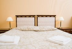Hotel double room. Picture of a Hotel double room Royalty Free Stock Images