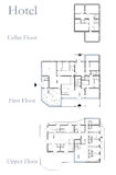 Hotel drawing plan royalty free illustration