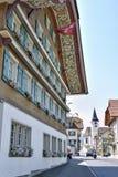 Hotel Drei Könige in Entlebuch Lucerna Fotografie Stock