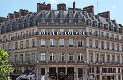 巴黎- Hotel du Louvre 免版税图库摄影
