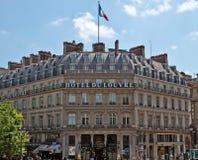 巴黎- Hotel du Louvre 免版税库存照片