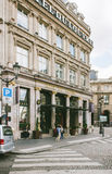 Hotel du Louvre with customers Royalty Free Stock Images