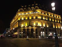 Hotel Du Louvre, Parijs Royalty-vrije Stock Foto