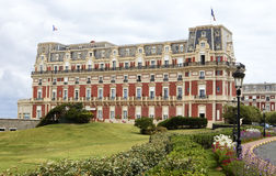 Hotel du Palais view in Biarritz Stock Image
