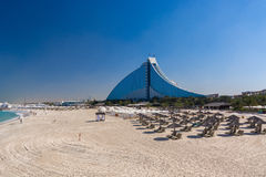 Hotel Dubai da praia de Jumeirah Fotos de Stock Royalty Free