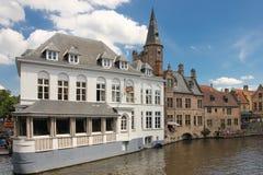 Hotel Duc de Bourgogne. Dijver canal. Bruges. Belgium Royalty Free Stock Image