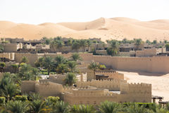 Desert Hotel, Abu Dhabi. Qasr Al Sarab Hotel in the dunes of Abu Dhabi royalty free stock photography