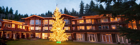 Hotel durante o Natal Foto de Stock