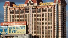 Hotel e casinò della stazione del palazzo a Las Vegas, Nevada fotografia stock libera da diritti