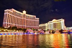 Hotel e casino de Bellagio em Las Vegas imagem de stock royalty free