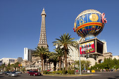 Hotel e casino de Paris em Las Vegas, Nevada Imagens de Stock Royalty Free
