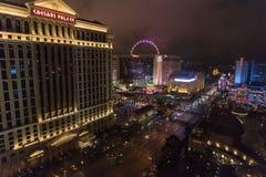 Hotel e casino do Caesars Palace no inverno, Las Vegas fotos de stock royalty free
